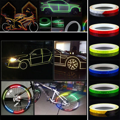 5M x 1CM Reflective Sticker Tape Car Truck Body Stripe DIY Self Adhesive Decal