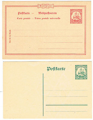 Deutsch-Ostafrika P14 * + P19 * Postkarten = German Southwest Africa 2 Postcards