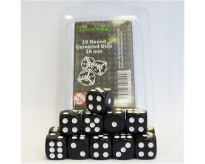 Blackfire Dice - 16mm D6 Dice Set (15 Dice)