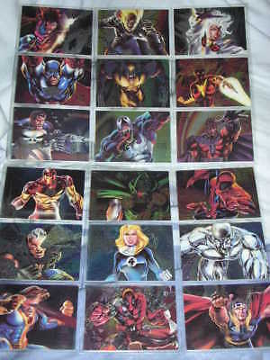47 Marvel Flair 94/95 Power Blast Chase Cards  Embossed Cards Holo Foil Cards