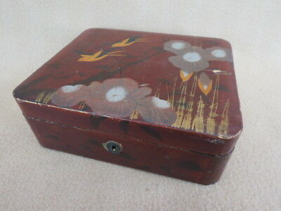 Antique Japanese Papier Mache Box