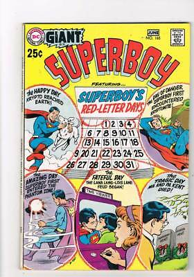 Superboy # 165  80 page Giant Red Letter issue grade 5.0 scarce book !!