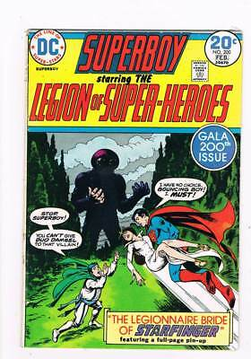 Superboy # 200 Bouncing Boy wedding issue grade 3.5 scarce book !!
