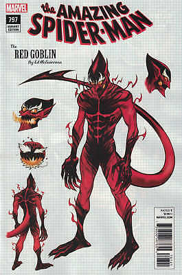 Amazing Spider-Man #797 1:10 Ed McGuinness Red Goblin Design Variant Marvel