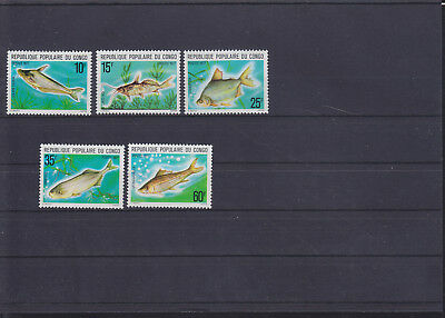060207 Fische Fish ... Congo 564-68 ** MNH Year 1977