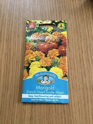 Mr Fothergills - Flower - Marigold (French) Dwarf Double Mixed - 150 Seeds