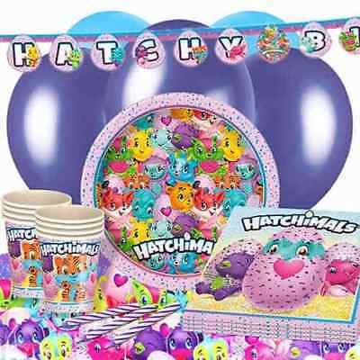 Official HATCHIMALS Birthday Party Range - Tableware Balloons & Decorations {1C}