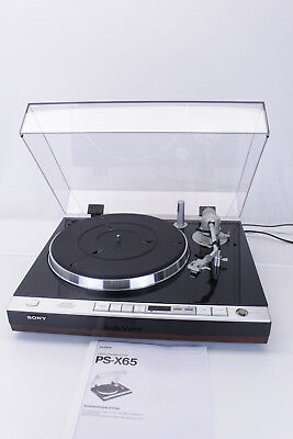 Sony PS-X65 Plattenspieler turntable Ortofon - excellent - serviced RARE
