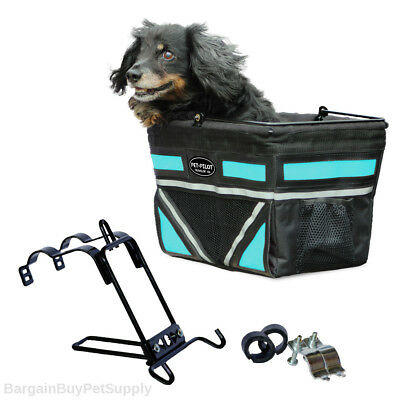 Travelin K9 Pet Pilot Dog Cat Bike Bicycle Basket Carrier Turquoise