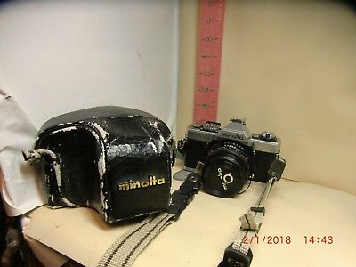 Minolta 35Mm Slr Model Xg9 With Case & Minolta 50Mm Lens - Works, No Batteries