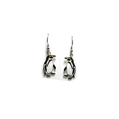Penguin Dangle Earrings Handcrafted Plastic Made in USA