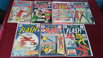 DC Comics Lot of 7 The Flash #221,222,223,226,228,231,233 Very Good Condition