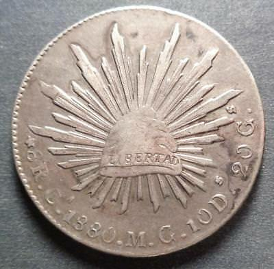 1880Ca M.G. Republic of Mexico Silver 8 Reales