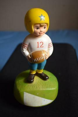 VINTAGE Child Football Player Music Box plays Notre Dame Fight Song .. HONG KONG