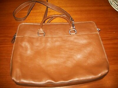 Bueno Laptop Bag  Leather Tan In Excellent Condition