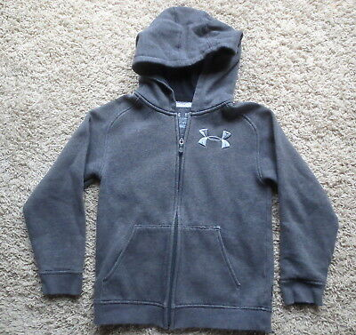 Under Armour Gray Storm Loose Fit Cold Gear Full Zip Boys Hoodie Sz Youth Small