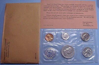 1963 MINT SILVER PROOF SET of U.S. COINS ALL ORIGINAL FLASHY VERY NICE!