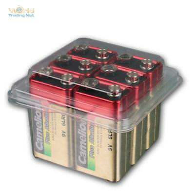 9V block battery, Plus Alkaline Camelion, 6 Pieces voratsbox 6LR61 6LF22 Battery