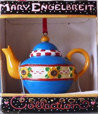 Mary Engelbreit Miniature Teapot Country Sunflowers New in Box