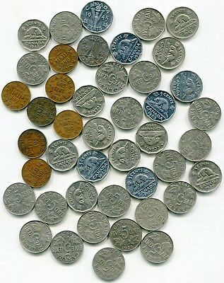 Canada large lot of vintage nickels 1922-1950's total (44) coins   lotmar2799