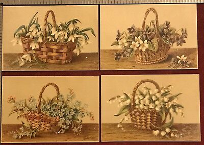 1872-1887 GLEASON's PICTORIAL Monthly Victorian Era Floral Basket 2-3/4 x 4 CARD
