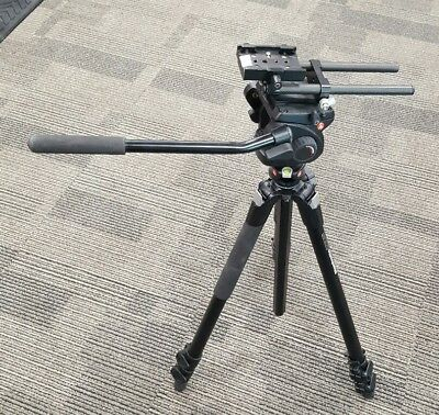 Manfrotto 055XPROB Tripod with 501HDV Pro Video Fluid Head *NICE* *M4