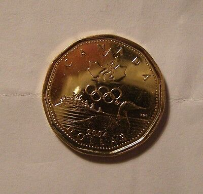 """2004 """"Lucky"""" Loonie, Coin Is Uncirculated From Bank Roll."""