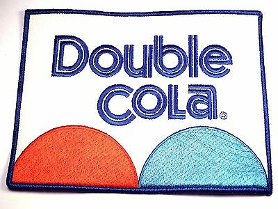 Original Vintage Double Cola Embroidered Uniform Patch Soda Collectible LARGE SZ