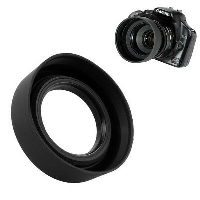 3 in 1 Collapsible Rubber Lens Hood 52mm DSIR Lens Sun Shade For Canon Nikon New