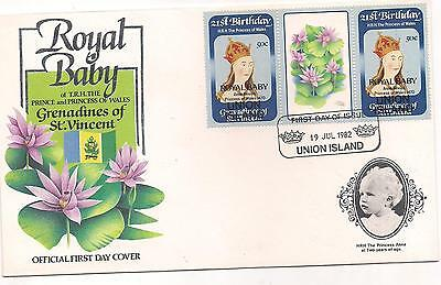 1982-Grenadines Of St.vincent-Union Island-Fdc-Royal Baby.
