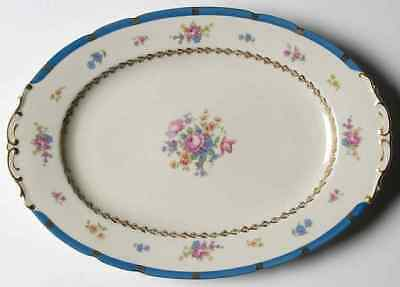 "Royal Ivory (cze & Ger) MARGARET ROSE 13 1/8"" Oval Serving Platter 963348"