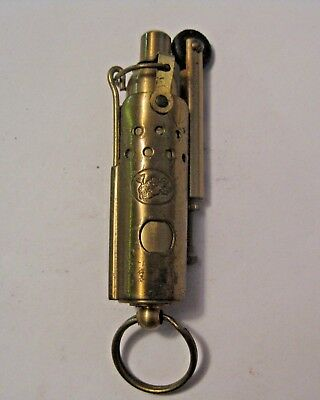 Rare Antique Vintage Brass Cigarette Lighter ~ Very Old & Great Shape