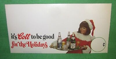 Vintage Cott Soda Christmas Mrs. Claus Shelf Counter Advertising Display NOS