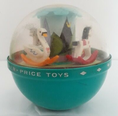 Fisher Price Roly Poly Chime Ball Klangball Vintage 1972 Baby Spielzeug Retro