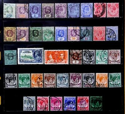 Straits Settlements, British: 1902-48 Classic Era Stamp Collection