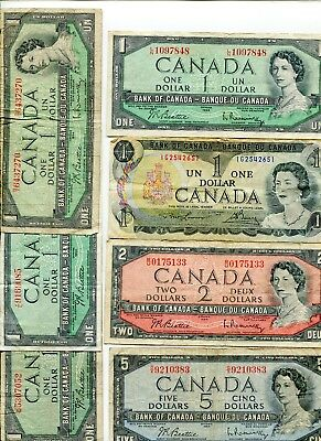 Canada lot of (6) vintage notes lotmar7034
