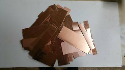 Copper Rectangles And Strips Various Thicknesses  5 Pound Box