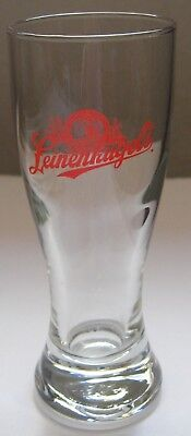 """Leinenkugel Small Pilsner Beer Glass Clear with Red Logo 4 1/2"""" Tall Taster"""