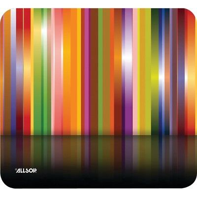 Allsop 30599 Tech Multi Stripes Print Mouse Pad Non-skid Base