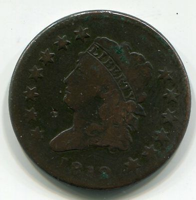 1812 Classic Head Large Cent Good+ Detail minor surface problems