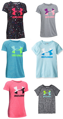 New Under Armour Big Girls Logo Athletic Shirt Size S, M, L, and XL MSRP $24.99