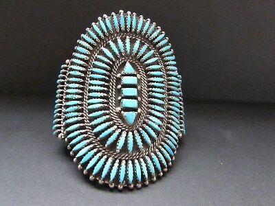 Awesome Vintage JASON YAZZIE Navajo Sterling Sleeping Beauty Turquoise Bracelet