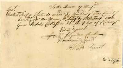 1720s DS by 2 Governors RI Colony re Buying Guns, Swords