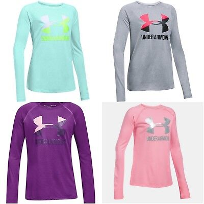 New Under Armour Girls Long Sleeve Shirt Size Small, Medium, Large, XL MSRP $25
