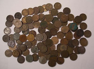 111 King George V CANADA SMALL CENTS low grades & problem coin lot