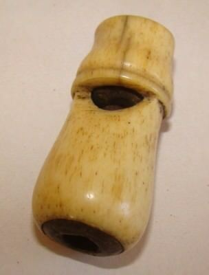 Antique Whistle Carved Bone 19th century