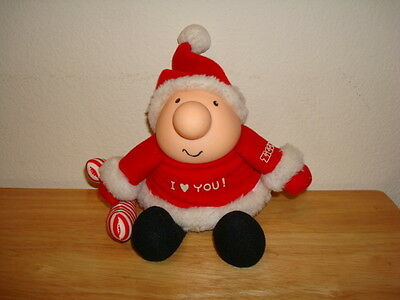 """Ziggy Christmas Plush Doll Ziggy in Santa Outfit with Candy Cane 7"""" CUTE"""