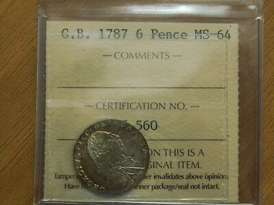 ICCS 1787   MS-64    Great Britain  6 Pence