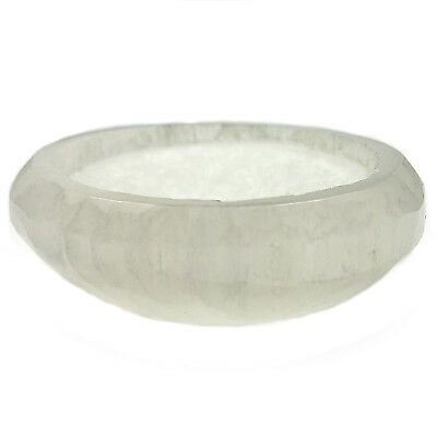 "CARVED - 2"" SATIN SPAR SELENITE Crystal Charging Bowl with Description Card"