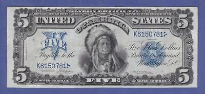 1899 $5 *BEAUTIFUL VF++/XF* INDIAN CHIEF Silver Certificate!